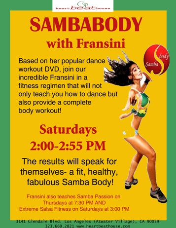 New SambaBody class on Sat. at 2:00pm